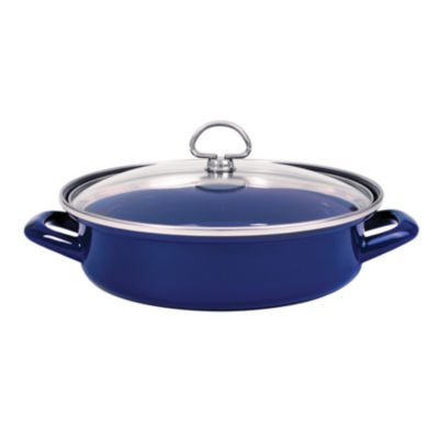 Chantal® 3-qt. Enamel-On-Steel Saute and Serve with Glass Lid