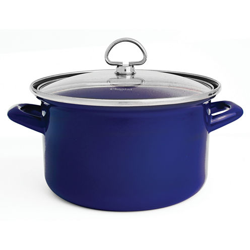 Chantal® 4-qt. Enamel-On-Steel Soup Pot with Glass Lid