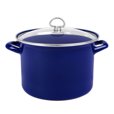 Chantal® 8-qt. Enamel-On-Steel Stock Pot with Glass Lid