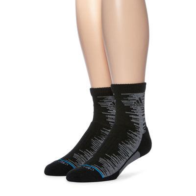 adidas® Mens 2-pk. Frequency Cushioned Quarter Socks