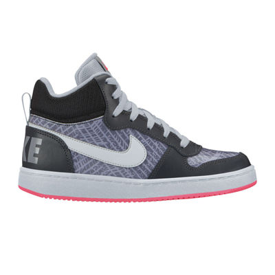 Nike Court Borough Mid Girls Sneakers - Big Kids