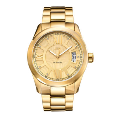 JBW Bond Mens Diamond-Accent Gold-Tone Stainless Steel Watch J6311A