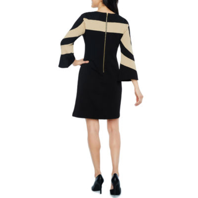 Danny & Nicole Long Sleeve Stripe Shift Dress