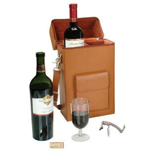 Royce Leather Connoisseur Leather Wine Carrier