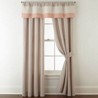 Home Expressions Nina 2-Pack Rod Pocket Curtain Panels