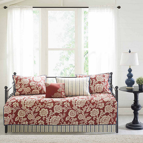 Madison Park Georgia 6-pc. Cotton Twill Reversible Daybed Set