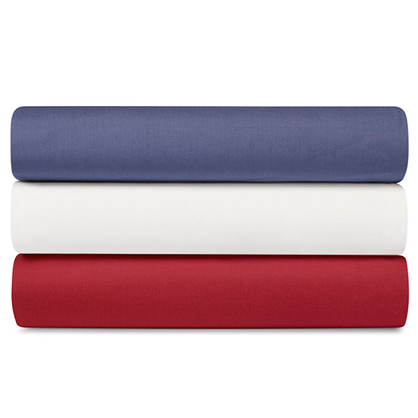 Poppy & Fritz Cotton Percale Solid Easy Care Sheet Set