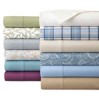 JCPenney Home 300tc Cotton Blend Easy Care Set of 2 Pillowcases