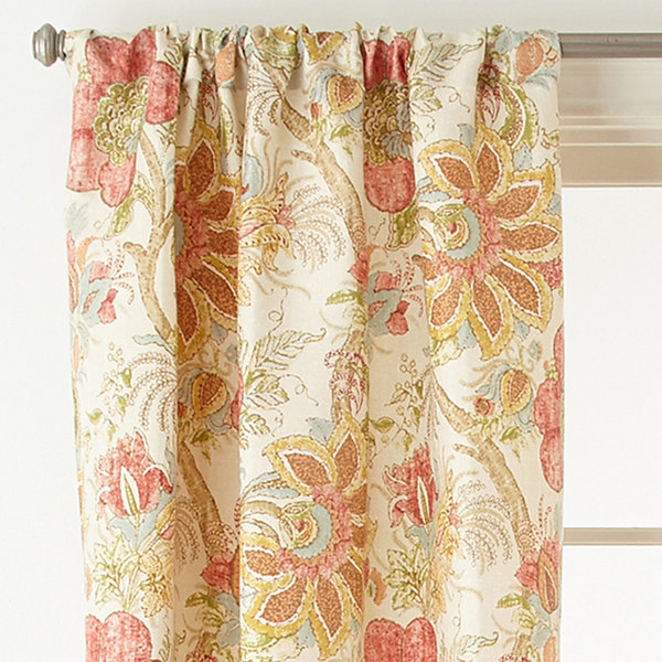 Home Expressions Dartmouth 2-Pack Rod-Pocket Curtain Panel