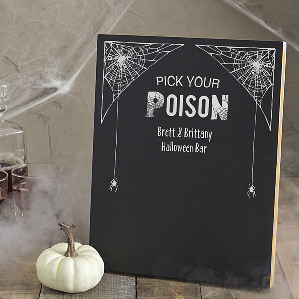 Cathy's Concepts Personalized Halloween Chalk Board