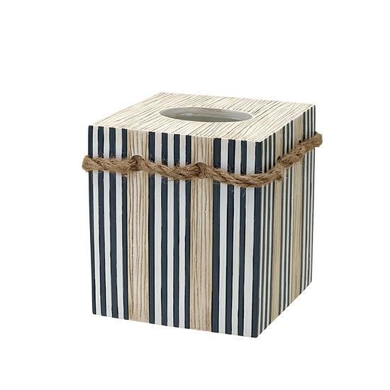 Zenna Home Beach Cottage Tissue Box Cover