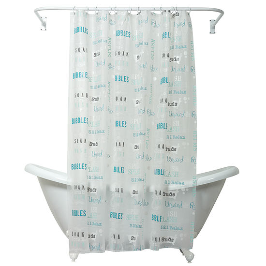 Zenna Home Bubble Bath Shower Curtain