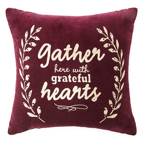 JCPenney Home™ Gather with Grateful Hearts Decorative Pillow