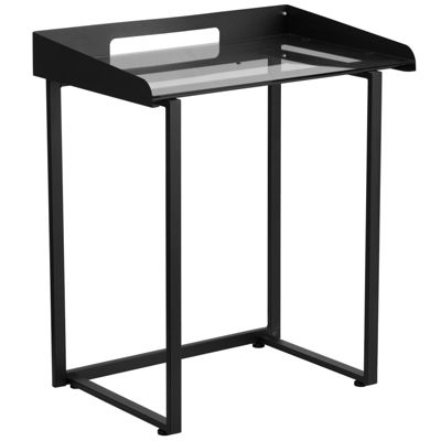 Contemporary Desk with Tempered Glass