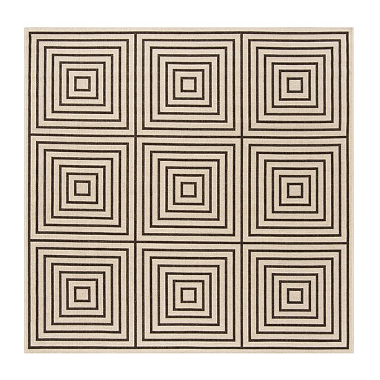 Safavieh Linden Collection Moriah Geometric Square Area Rug