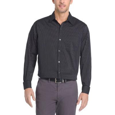 Van Heusen Mens Long Sleeve Checked Button-Front Shirt
