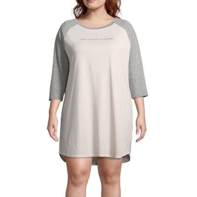 Ambrielle Jersey Nightshirt-Plus