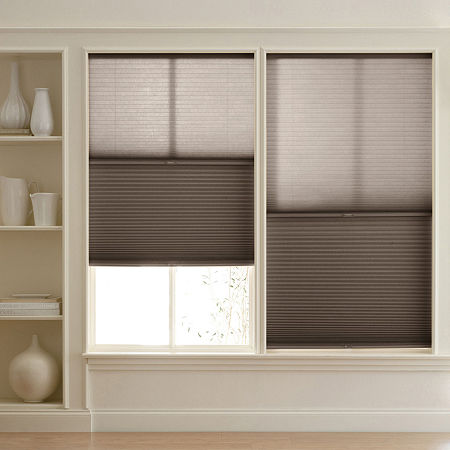 Home Expressions Room Darkening Day/Night Cordless Cellular Shade - FREE SWATCH, One Size , Brown