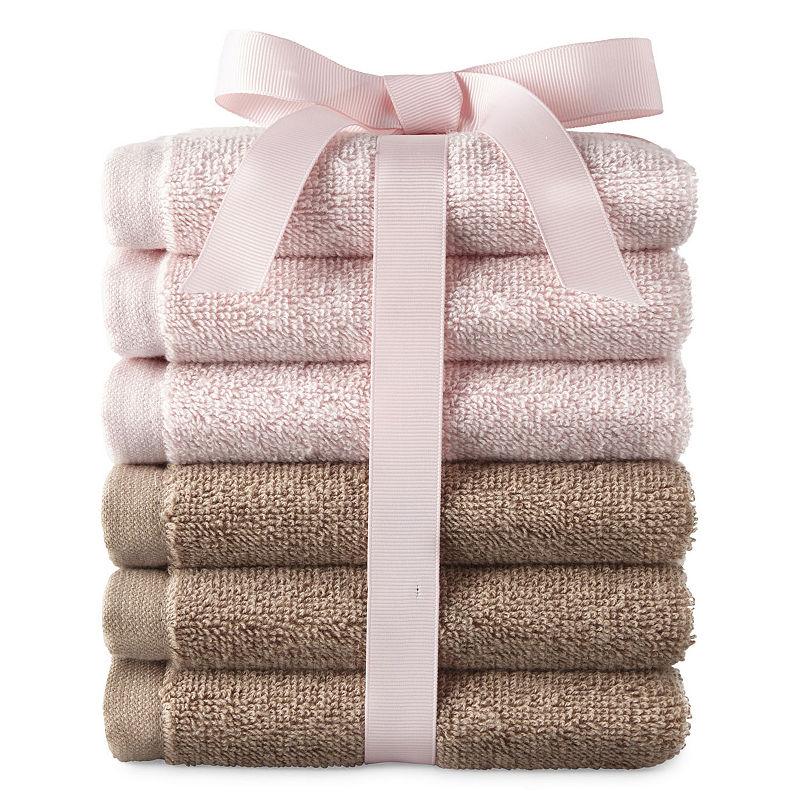 J.C Penney: 6-Piece Washcloth Set $3.59