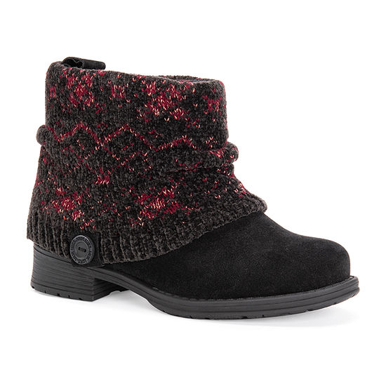 Muk Luks Womens Pattrice Dress Boots Block Heel