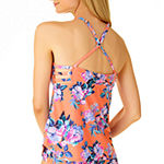 a.n.a Floral Tankini Swimsuit Top