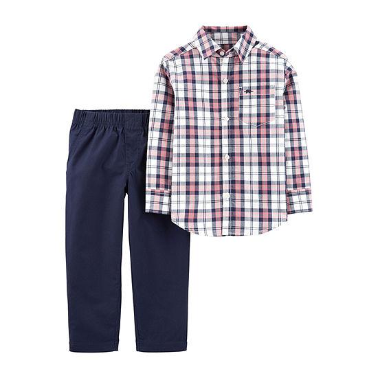 Carter's Boys 2-pc. Plaid Pant Set Baby