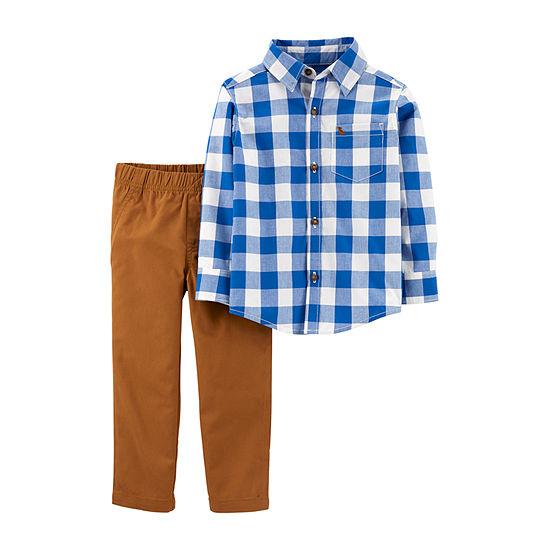 Carter's Boys 2-pc. Plaid Pant Set Toddler
