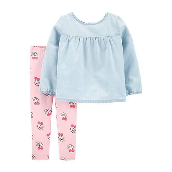 Carter's Girls 2-pc. Legging Set-Toddler