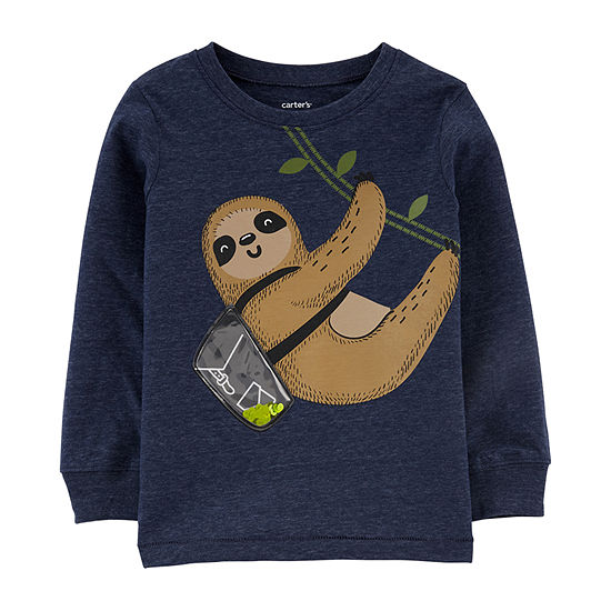 Carter's Boys Long Sleeve Graphic T-shirt- Toddler