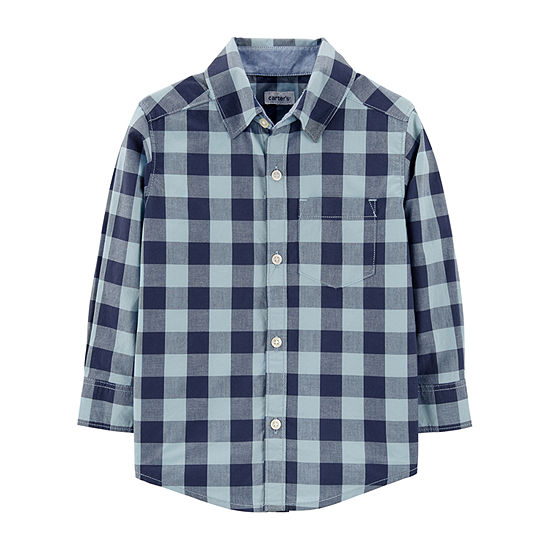 Carter's Toddler Boys Long Sleeve Button-Down Shirt