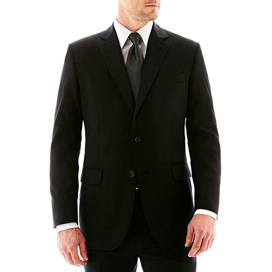 Stafford Executive Super 100 Wool Black Stripe Suit Jacket Classic
