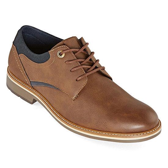 JF J.Ferrar Mens Grayton Oxford Shoes Round Toe