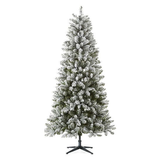 Flocked Pre Lit Christmas Tree.North Pole Trading Co 7 Foot Manchester Spruce Pre Lit Flocked Christmas Tree