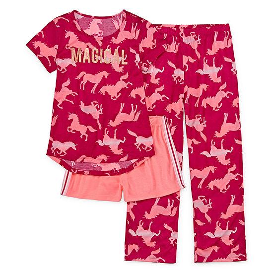 Arizona Girls 3-pc. Pajama Set Preschool / Big Kid