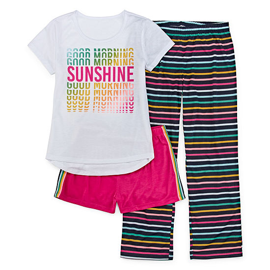 Arizona Girls 3-pc. Pajama Set Preschool / Big Kid