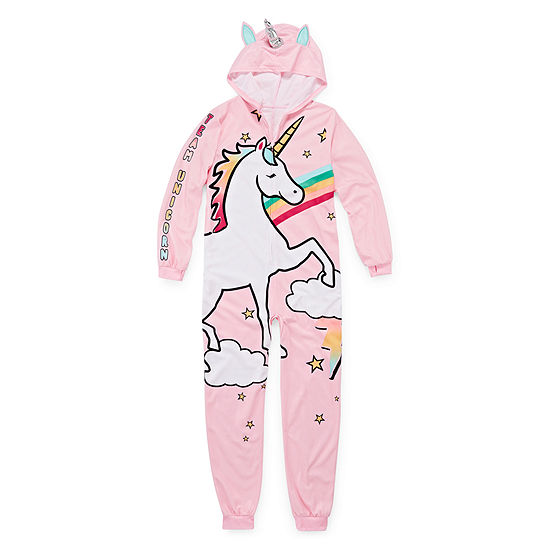 Arizona Girls Microfleece One Piece Pajama Long Sleeve