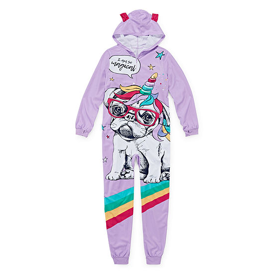 Arizona Girls Microfleece One Piece Pajama Long Sleeve