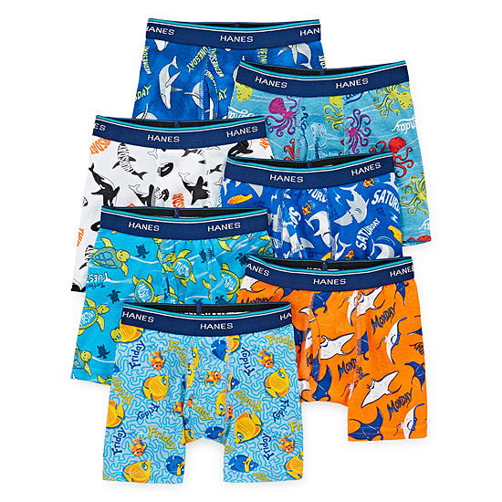 Hanes Boys 7 Pair Boxer Briefs Toddler