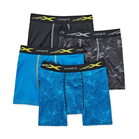 Hanes Space Dyed Bonus Pack Boys 4 Pair Boxer Briefs Preschool / Big Kid