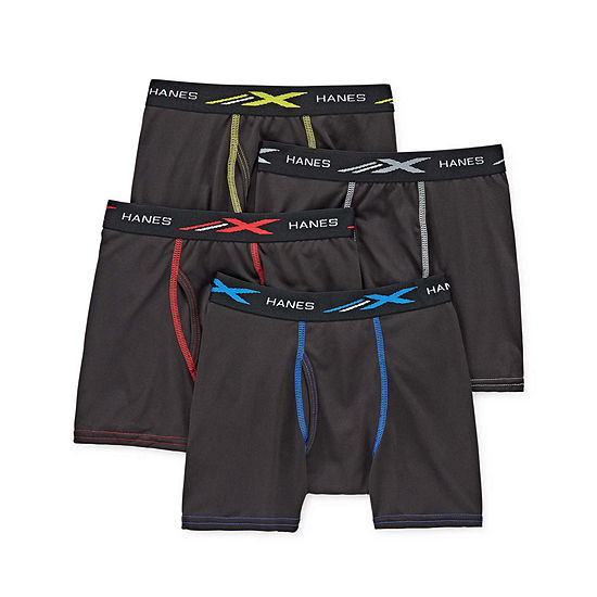 Hanes Little & Big Boys 4 Pack Boxer Briefs