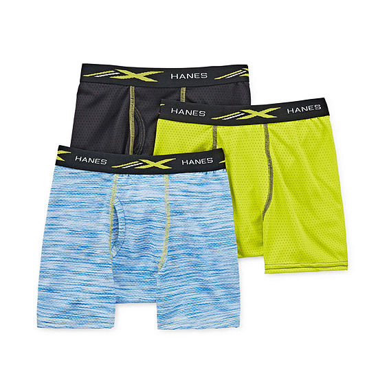 Hanes Space Dyed 3 Pair Boxer Briefs Boys