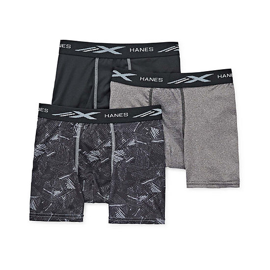 Hanes Space Dyed Mesh Little & Big Boys 3 Pack Boxer Briefs