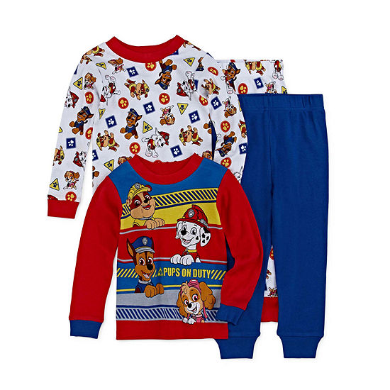 Nickelodeon Boys 4-pc. Paw Patrol Pajama Set Toddler