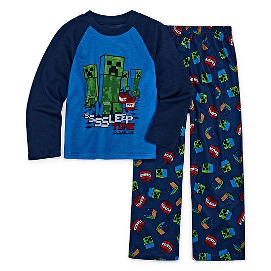 Little & Big Boys 2-pc. Minecraft Pant Pajama Set