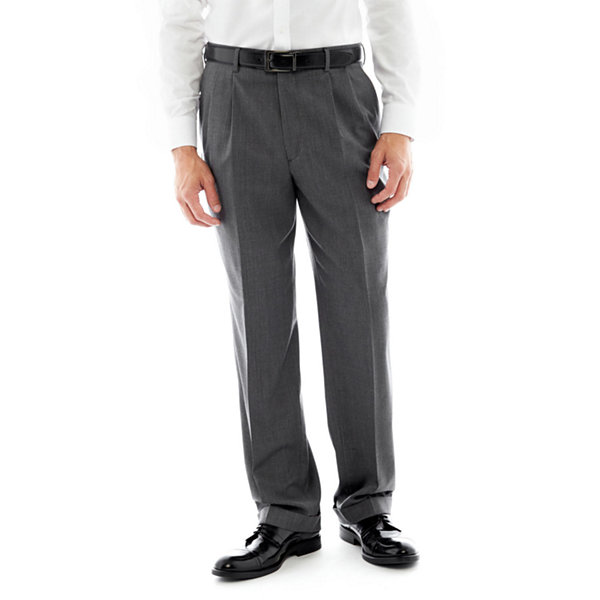 Stafford® Executive Super 100 Pleated Suit Pants - Classic