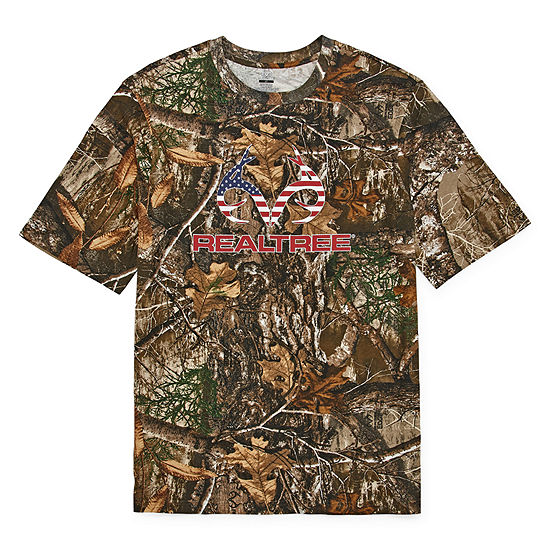 Realtree-Big and Tall Mens Crew Neck Short Sleeve T-Shirt