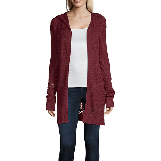 Arizona Womens Long Sleeve Cardigan-Juniors
