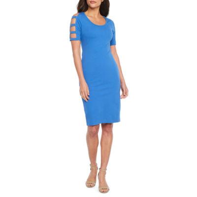 Bold Elements Short Sleeve Bodycon Dress