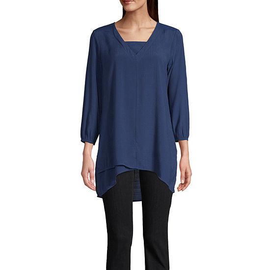 St. John's Bay Womens Long Sleeve Tunic Top