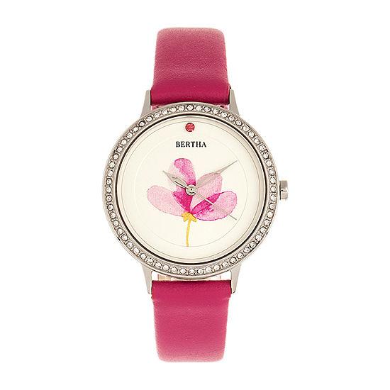 Bertha Womens Pink Leather Strap Watch-Bthbr8603